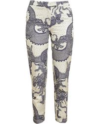 Osman Yousefzada Tailored Dragon Brocade Trousers - Lyst