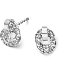 Michael Kors Pave Rings Delicate Stud Earrings - Lyst