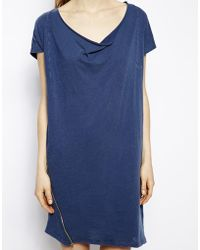 American Vintage Talahesse Tshirt Dress with Drape Detail - Lyst