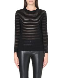 Sandro Stone Long Sleeved Sweatshirt Black - Lyst