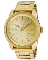 Diesel Mens Gold Dial Gold Tone Ion Plated Stainless Steel - Lyst