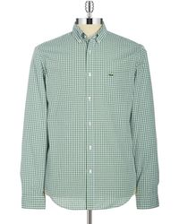 Lacoste | Checked Sportshirt | Lyst