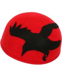 Francesco Ballestrazzi Bird Silhouette Lapin Felt Pillbox Hat - Lyst