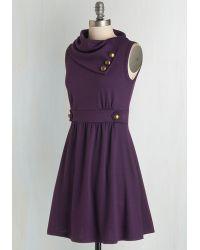 Monteau Inc - Coach Tour Dress In Violet - Lyst