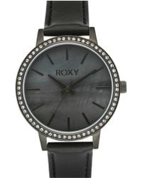 Roxy - 'the Bells' Round Leather Strap Watch - Lyst
