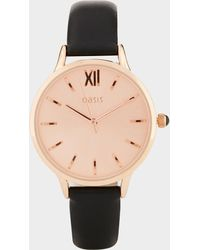 Oasis - Classic Rose Gold Face Watch - Lyst