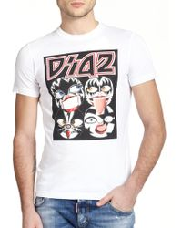DSquared² Faces Graphic T-Shirt multicolor - Lyst