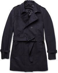 Burberry Prorsum Double-Breasted Cotton-Gabardine Trench Coat - Lyst