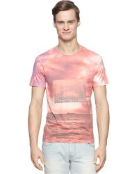 Calvin Klein Jeans Beach Sublimation T-Shirt pink - Lyst