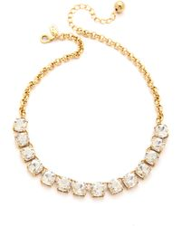 Kate Spade Squared Away Neckalce Clear - Lyst