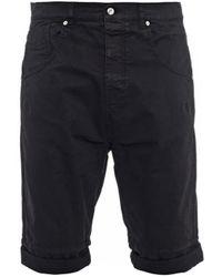 McQ by Alexander McQueen Drop-Crotch Stretch-Cotton Shorts - Lyst