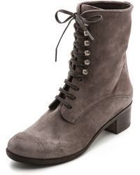 Coclico Mina Lace Up Booties Cenere - Lyst