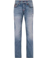 True Religion - Rocco Super T Vintage Blue Relaxed Skinny Denim Jeans - Lyst