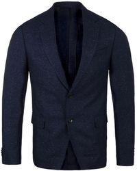 BOSS - Nobis 4 Navy Woven Wool Tailored Fit Jacket - Lyst