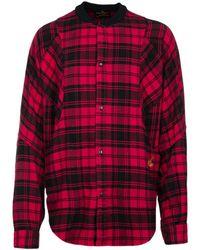Vivienne Westwood - Red Tartan Oversized Pierpoint Shirt - Lyst