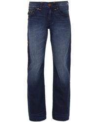 True Religion - Ricky Flap Super T Eewd Blue Mariner Jeans - Lyst