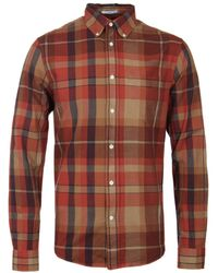 Gant Rugger - Fall Madras Red Canyon Slim Fit Shirt - Lyst