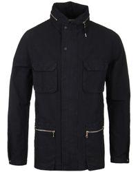 Folk - Black Concealed Hood Field Jacket - Lyst