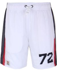 Franklin & Marshall | White Mesh Panelled Shorts | Lyst