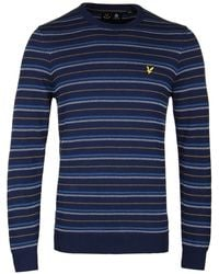 Lyle & Scott - Navy Pick Stitch Jumper - Lyst