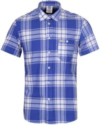 Franklin & Marshall - Hollywood Blue Single Check Shirt - Lyst