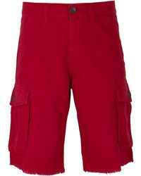 True Religion - Ruby Red Weekender Cargo Shorts - Lyst