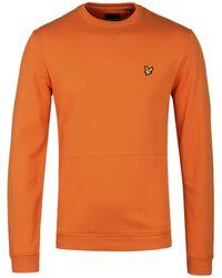 Lyle & Scott - Front Pocket Fox Orange Sweatshirt - Lyst