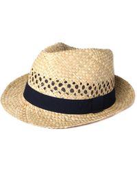 Hackett - London Straw Trilby Hat - Lyst