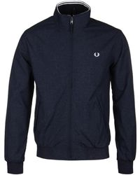 Fred Perry - Navy Marl Brentham Jacket - Lyst