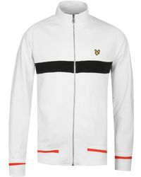 Lyle & Scott - White Funnel Neck Zip Sweatshirt - Lyst