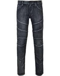 True Religion - Black Rocco Classic Moto Sn Jeans - Lyst