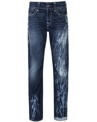 True Religion - La Basin Geno Flap Super T Slim Fit Jeans - Lyst