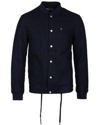 Farah - True Navy Leinster Wool Bomber Jacket - Lyst