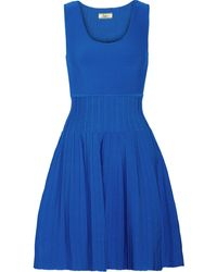 Issa Blue Stretchknit Dress - Lyst