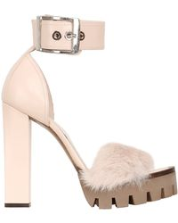 Alexander McQueen 140mm Leather Lapin Sandals - Lyst