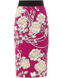 L'Wren Scott Japanese Gardenprint Pencil Skirt - Lyst
