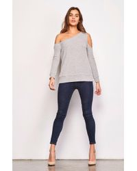 BB Dakota - Dannelle One Shoulder Sweatshirt - Lyst