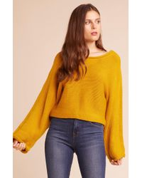 Jack BB Dakota - Bb Talk Dropped Sweater - Lyst