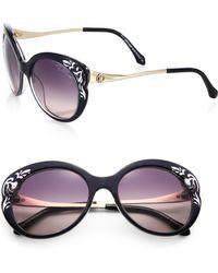 Roberto Cavalli Filigree Cutout Plastic Sunglasses/3&Frac12; - Lyst