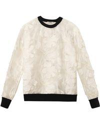 Erdem - Zea Embroideredvoile Sweatshirt - Lyst