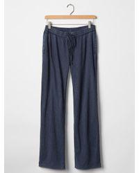 Gap Slub Jersey Knit Pants - Lyst