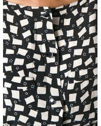 Courreges   Geometric Squares Printed Jumpsuit   Lyst
