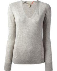 Burberry Brit Vecnk Sweater - Lyst