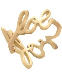 House Of Holland Gold Plated Scribble Ring - Lyst