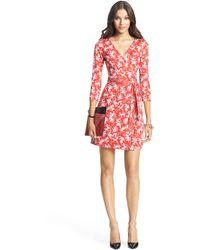 Diane von Furstenberg New Julian Two Mini Silk Jersey Wrap Dress - Lyst