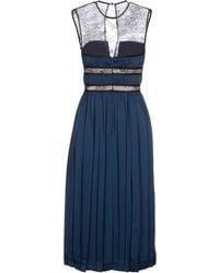 Catherine Deane 3/4 Length Dress - Lyst