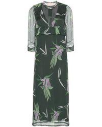 Marni Printed Silk Chiffon Dress - Lyst