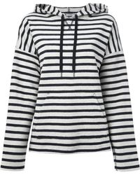 T By Alexander Wang Striped Cotton Hoodie - Lyst