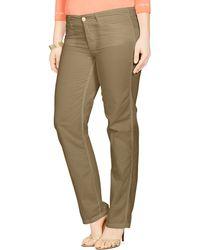 Ralph Lauren Lauren Plus Cotton Chino Pants green - Lyst