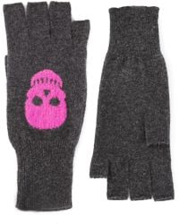 Autumn Cashmere Gray Skull Gloves - Lyst